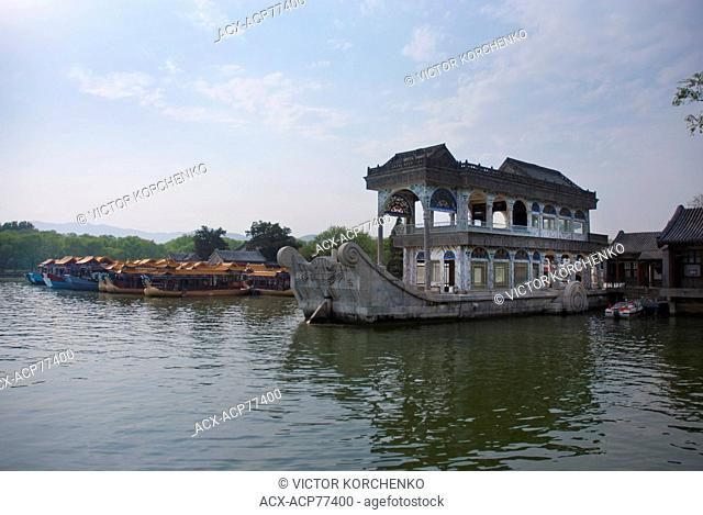 Marble Boat in Summer Palace, Beijing, China