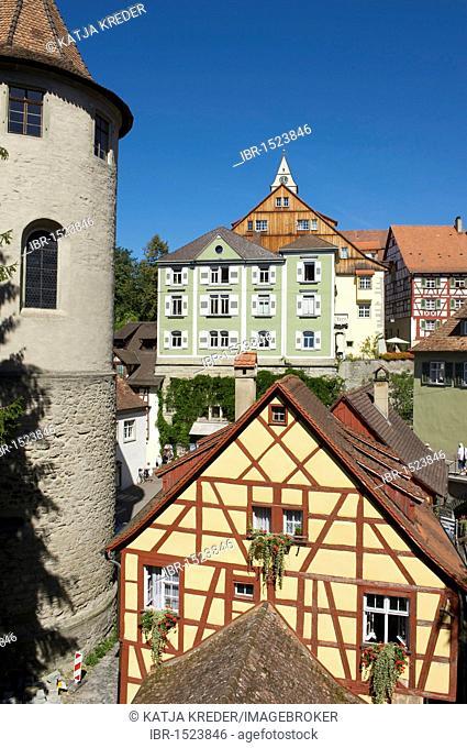 Altes Schloss or Burg Meersburg castle in Meersburg, Lake Constance, Baden-Wuerttemberg, Germany, Europe