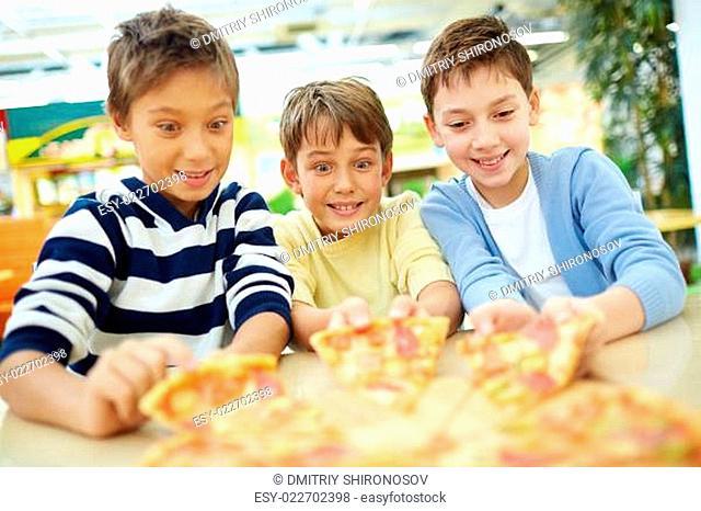 Tempting pizza