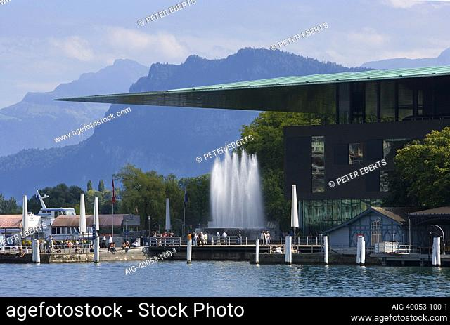 1995-2000 erbaut von Jean Nouvel. Luzern Festival 2007, Luzern, Kultur- und Kongresszentrum