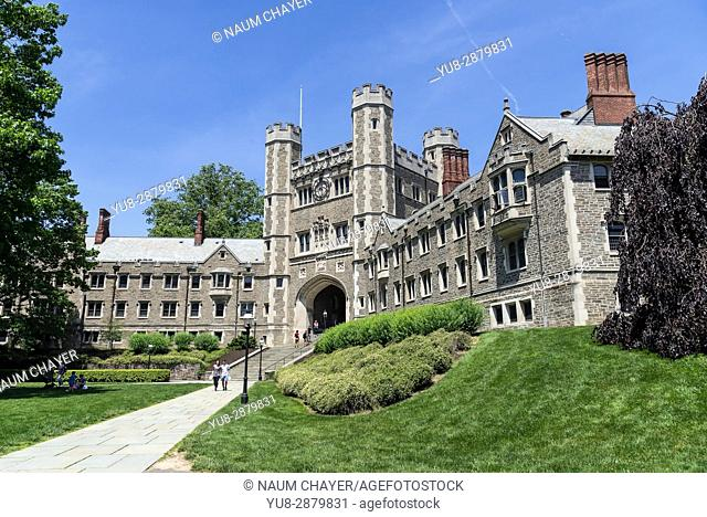 Blair Hall, the western portion of which is part of Mathey College, Princeton University, New Jersey, USA