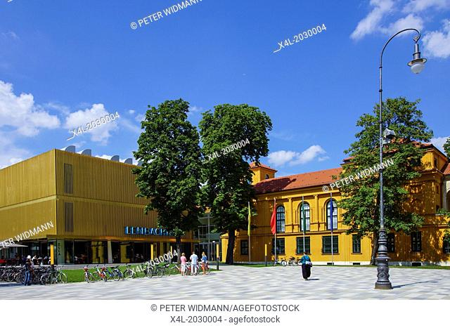 The newly renovated Lenbachhaus in Munich, museum, Bavaria Upper Bavaria, Germany