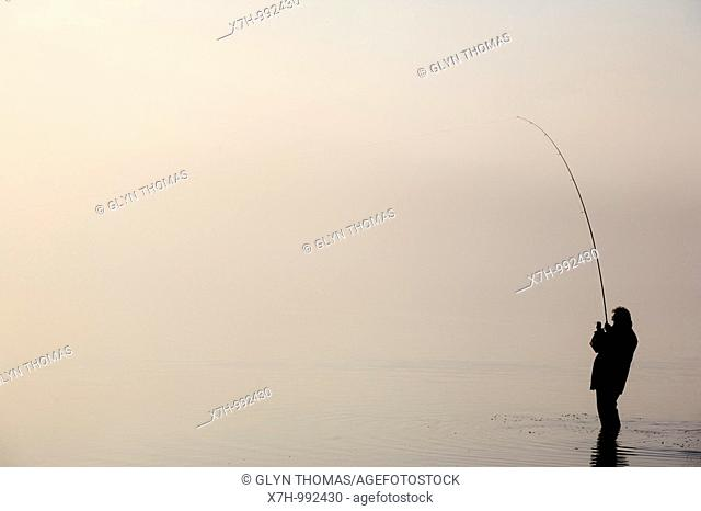 Fisherman at Bassenthwaite Lake, Cumbria, England
