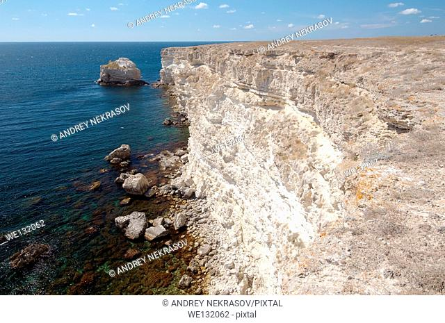 Coastline, Cape Tarhankut, Tarhan Qut, Crimea, Ukraine, Eastern Europe