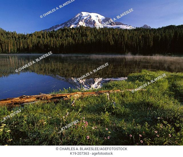 Mount Rainier from Reflection Lake, Mount Rainier National Park, Washington, USA