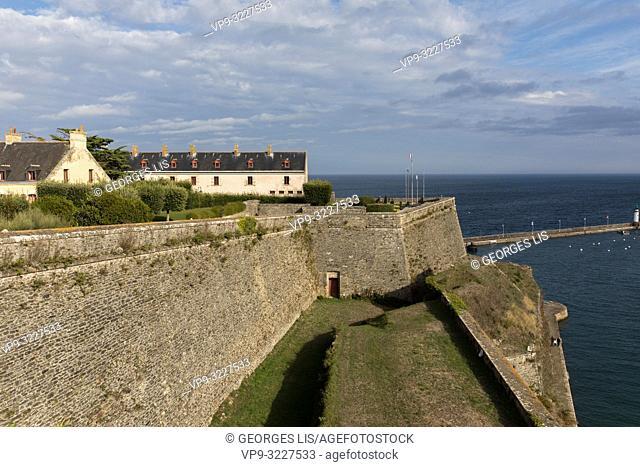 Vauban citadel, Le Palais, Belle Ile, Atlantic Ocean, Morbihan, Bretagne, France