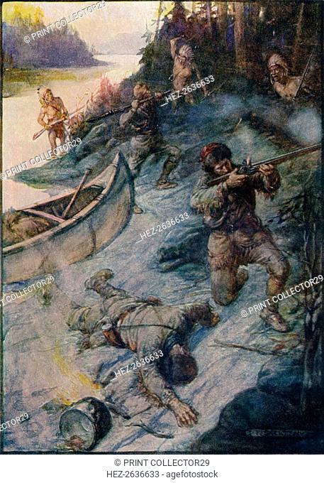 'No Man Was Safe, No Life Was Safe', 1908, (c1920). Artist: Joseph Ratcliffe Skelton