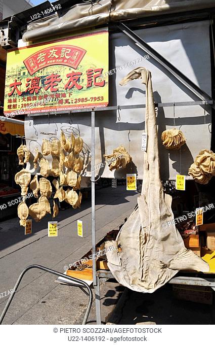 Hong Kong: dry fish sold at Tai O village, on Lantau Island