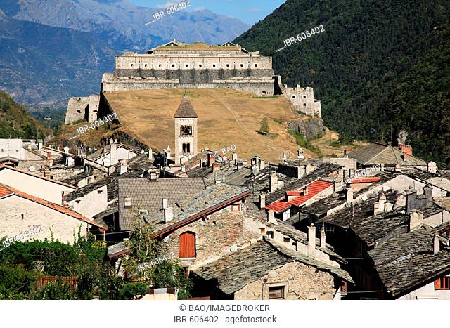 Fortress and village of Exilles, Susa Valley, Piemont, Italy