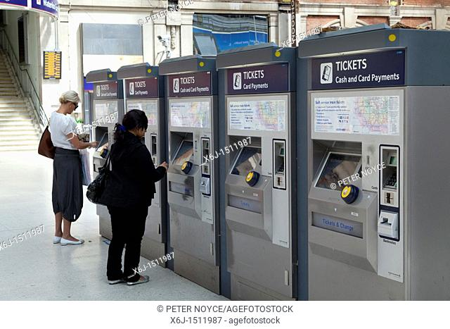 Buying from the ticket machines at waterloo station