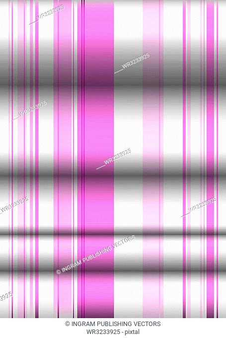 Pink and white material background with folds in the material