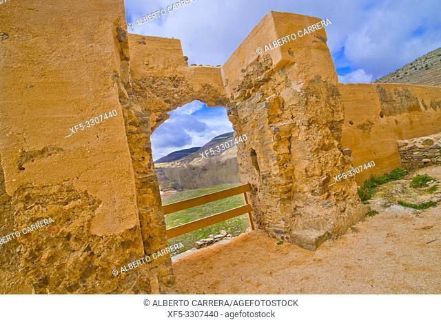 Castle of Yanguas, 14th Century Medieval Fortress, Yanguas, Soria, Castilla y León, Spain, Europe