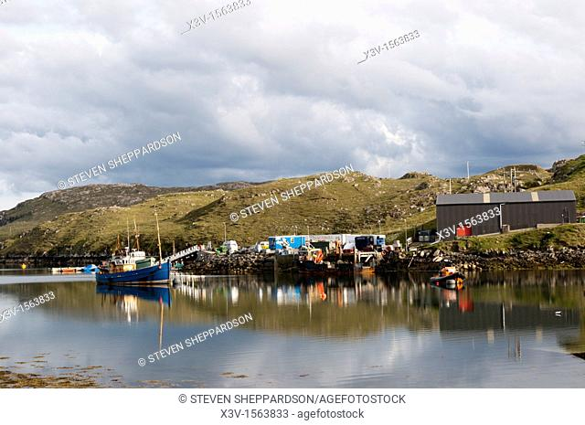 Europe, Scotland, Outer Hebrides, Isle of Lewis - the small fishing harbour at Miabhaig