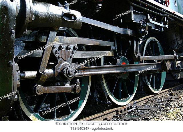 train wheel moving on rail