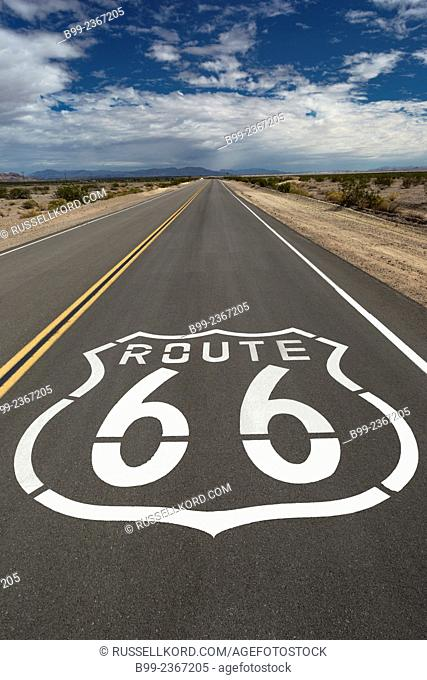 Route 66 Shields National Trails Highway Amboy California Usa