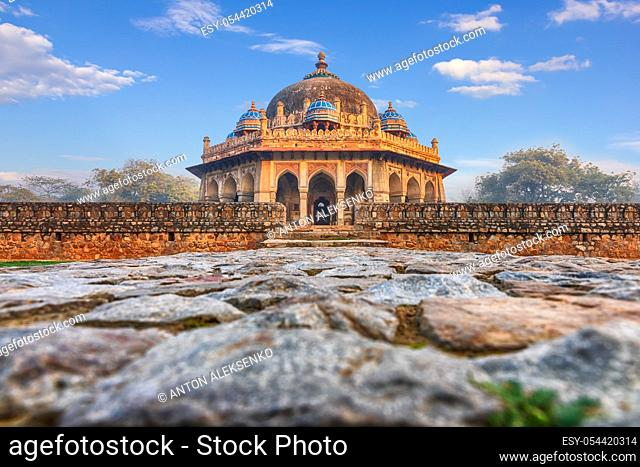 Isa Khan's Tomb near the Humayun's Tomb in India, New Dehli