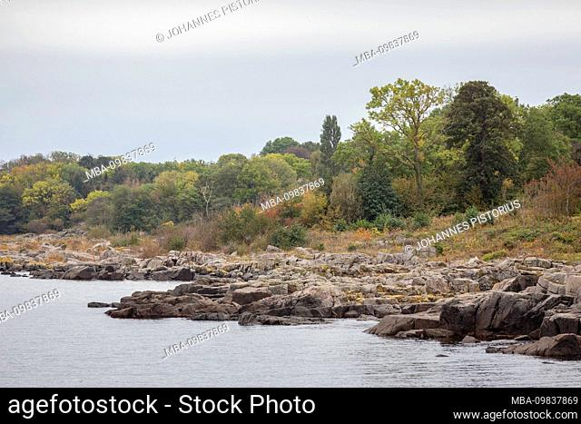 Europe, Denmark, Bornholm, Aarsdale. Autumn on the east coast