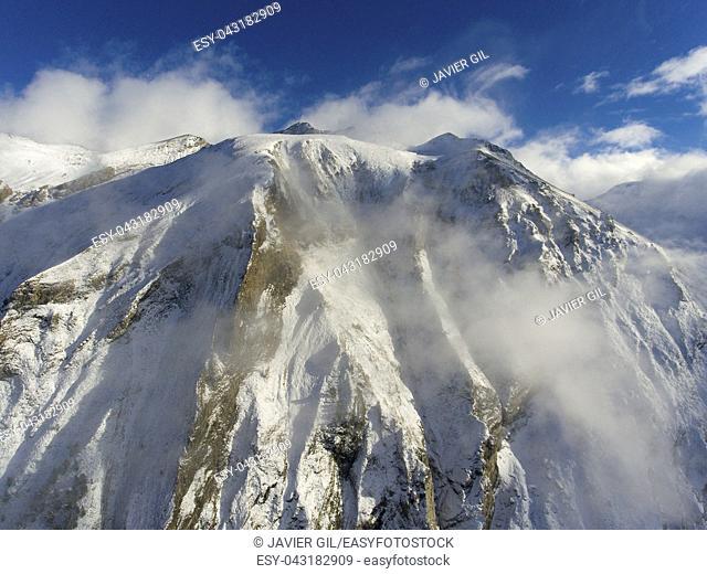 Mountains in Aragnouet, Hautes-Pyrenees, Occitanie, France