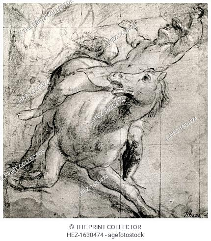 'Horseman Falling', c1565, (1937). A print from Titian Paintings and Drawings, introduction by Hans Tietze, Phaidon Press, Vienna, 1937