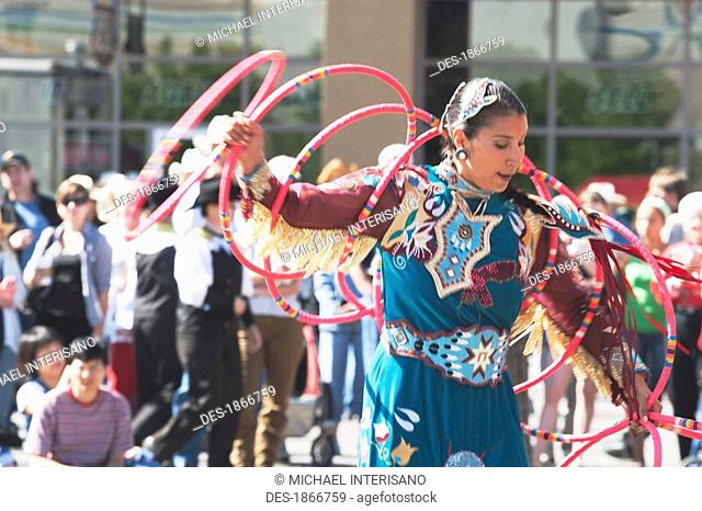 Native Hoop Dancer, Calgary Stampede Rodeo, Calgary, Alberta, Canada