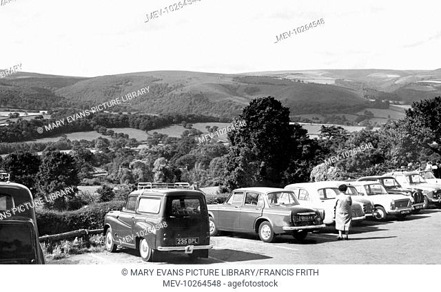 Selworthy, Car Park and view c1960