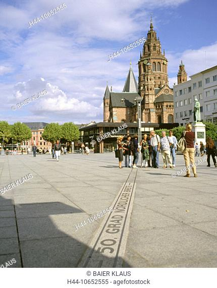 10652555, 50 northern degrees of latitude, Germany, Europe, cathedral, dome, cathedral church, Mainz, pedestrian, passerby, pl