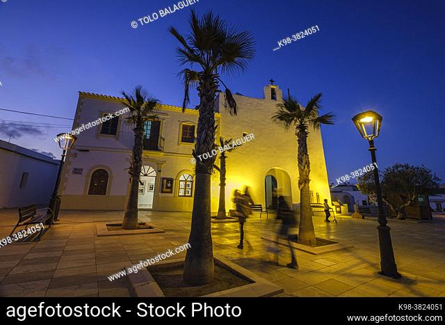 Sant Francesc Xavier church, Formentera, Pitiusas Islands, Balearic Community, Spain