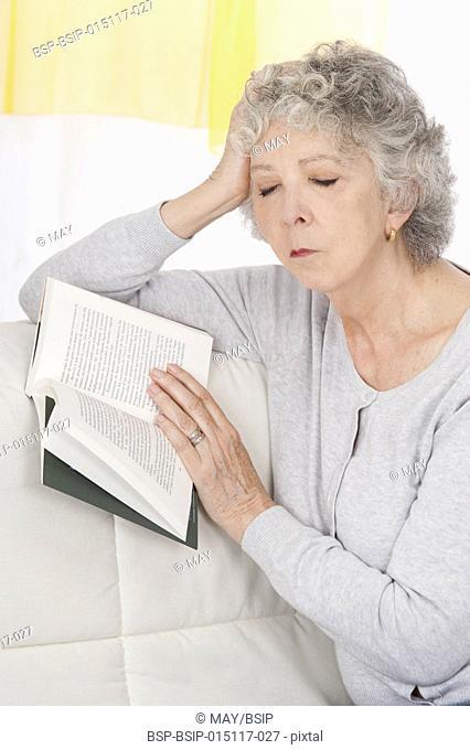 Senior woman asleep