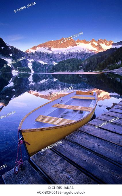 Lake Lovely Water at dawn, Tantalus Provincial Park, British Columbia, Canada