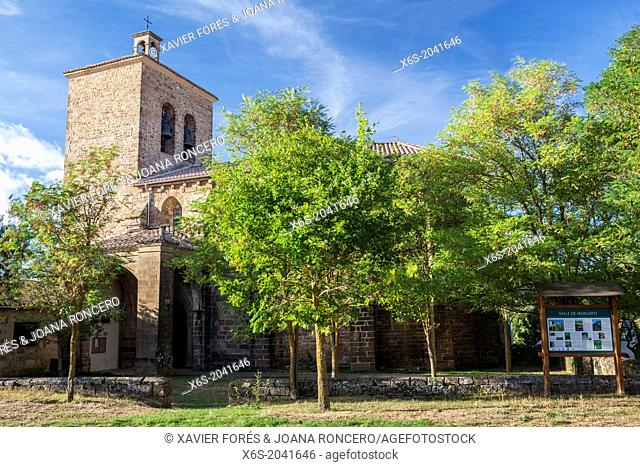 Church of San Miguel in the village of Salinas de Ibargoiti, Navarra, Spain