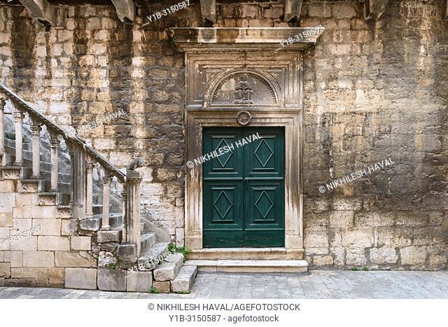 South wall Staircase at church of St. John, Sibenik, Croatia