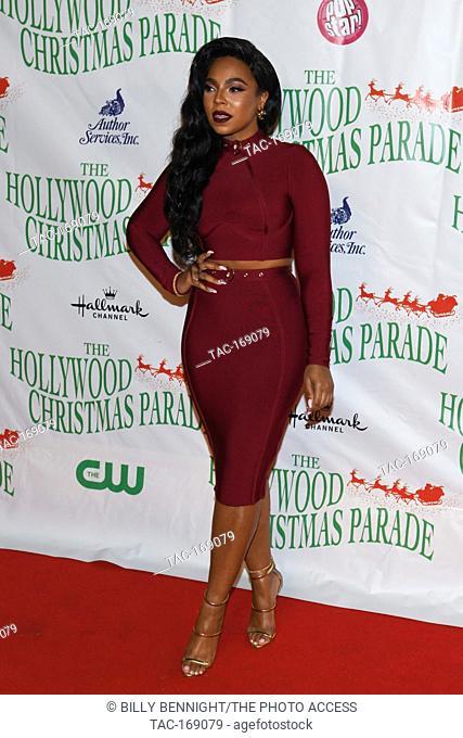 Ashanti, Ashanti Shequoiya Douglas, arrives at the 87th Annual Hollywood Christmas Parade in Hollywood California on November 25, 2018