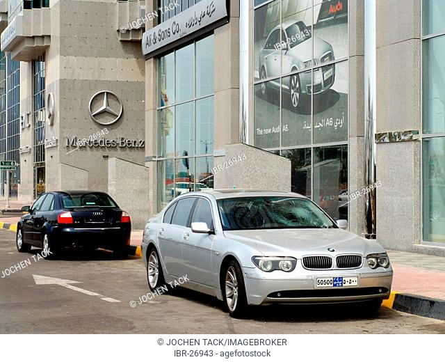 ARE, United Arab Emirates, Abu Dhabi:German car dealer Audi and Mercedes Benz branch office