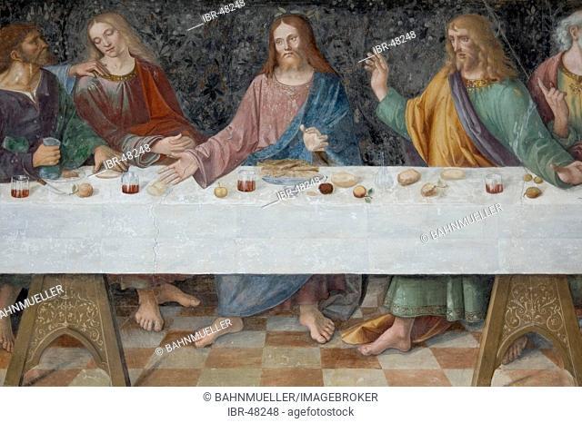 Cremona Lombardia Italy church S. Sigismund frescoe 16. Century last supper