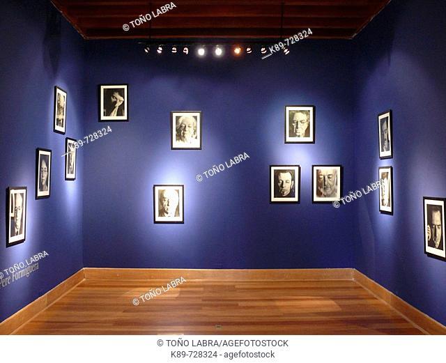Portraits in exhibition hall, Lima, Peru