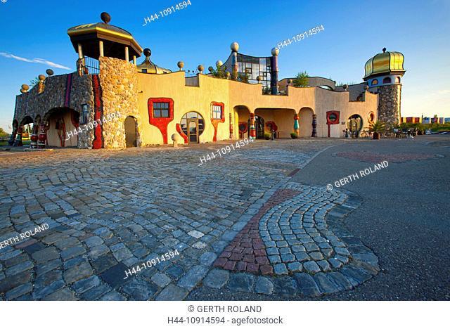 Staad, Hundertwasser, Switzerland, canton St. Gallen, Lake of Constance region, covered market, architecture, artist, Hundertwasser