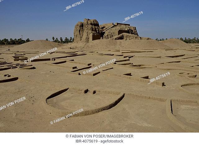 Deffufa, 19-meter-high brick building, ancient city of Kerma, Northern state, Nubia, Nile Valley, Sudan