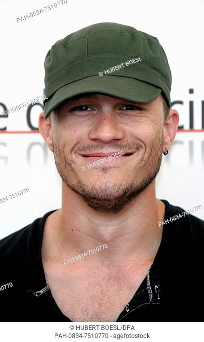 (dpa) - Actor Heath Ledge presents his new movie 'Brokeback Mountain' at the International Film Festival in Venice, Italy, 02 September 2005