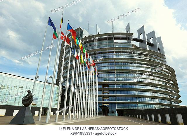 European Parliament seat, Louise Weiss building, Strasbourg, Alsace, France