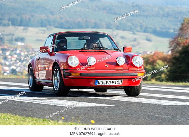 Michelstadt, Hesse, Germany, Porsche 911 SC Targa, 3000 ccm, 204 HP, year of manufacture 1978 on the event Pista & Piloti