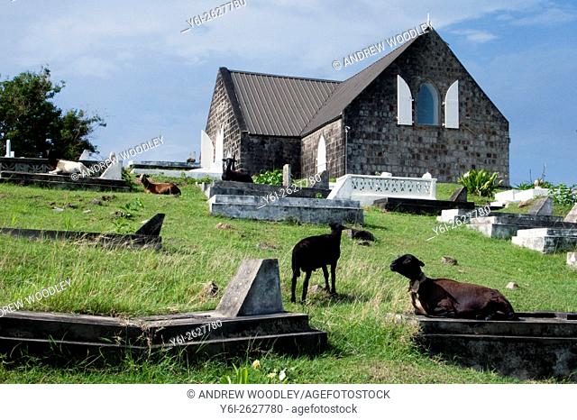 St Thomas Anglican Church and school oldest active Protestant church in the Caribbean Nevis