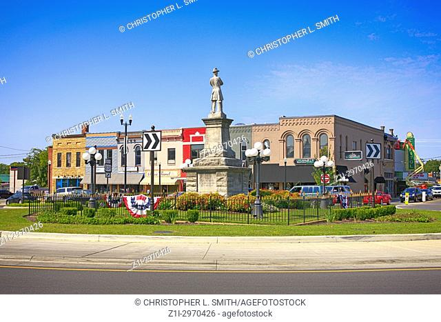 Confederate memorial statue of General Robert Hatton in the center of downtown Lebanon Tennessee USA
