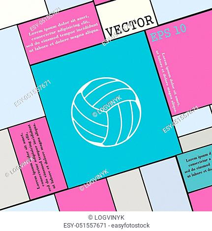 Volleyball icon sign. Modern flat style for your design. Vector illustration