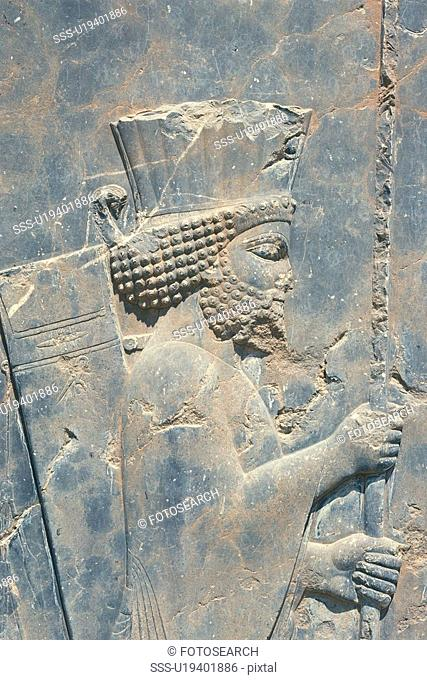 Wall relief from the site of Persepolis, Iran, Close Up