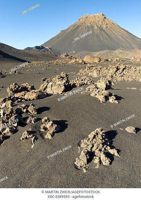 Stratovolcano mount Pico do Fogo. Fogo Island (Ilha do Fogo), part of Cape Verde in the central atlantic