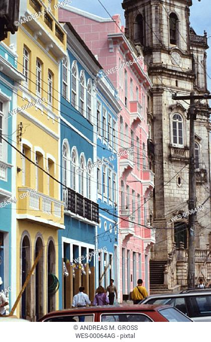 Old town in Salvador, Brazil