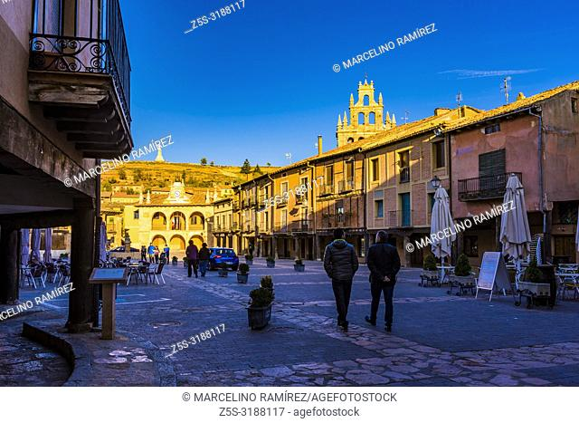 Plaza Mayor, main square. Ayllon, Segovia, Castilla y leon, Spain, Europe