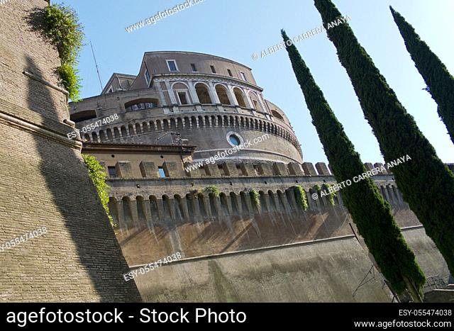 Castel Sant'Angelo, Castle of the Holy Angel, Mausoleum of Hadrian, Rome, Lazio, Italy, Europe
