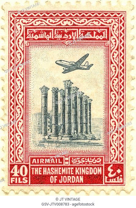 postage, stamp, Jordan, mail, historical