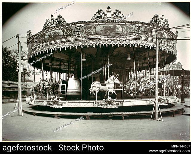 Carrousel. Artist: Eugène Atget (French, Libourne 1857-1927 Paris); Date: 1923, printed 1956; Medium: Gelatin silver print; Classification: Photographs